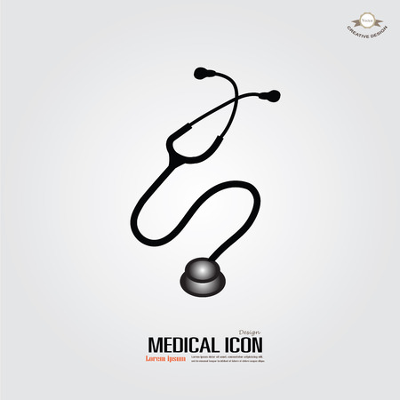 doctor stethoscope: stethoscope .stethoscope vector icon.  vector illustration.