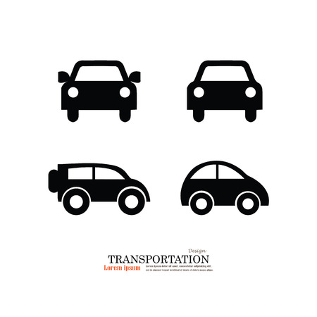Icono del coche .car. Ilustración Transporte icon.Vector.