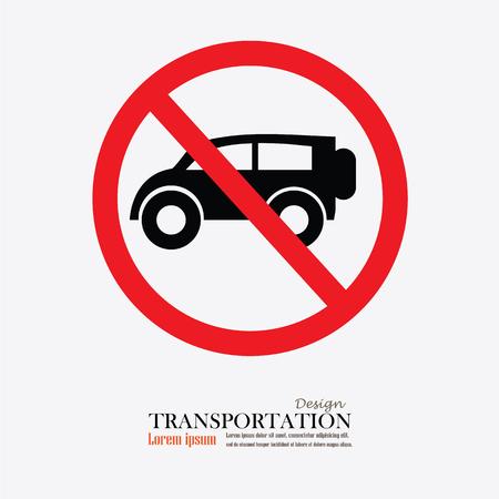 obey: No car or no parking traffic sign,prohibit sign.vector illustration Illustration