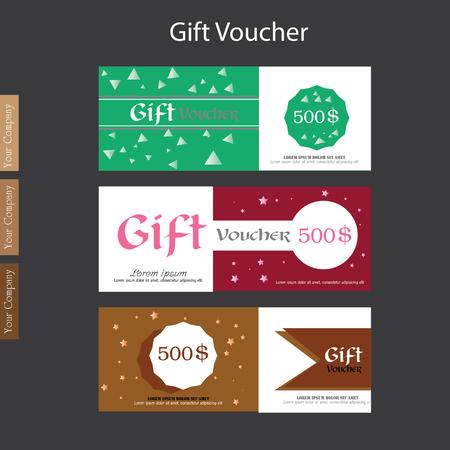 puckered: Gift Voucher. Gift certificate. Coupon template. gift voucher vector.vector illustration
