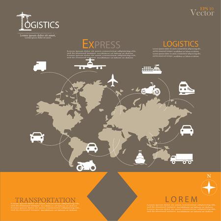 Logistics technology concept.