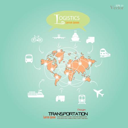 cargo transport: Logistics technology concept.