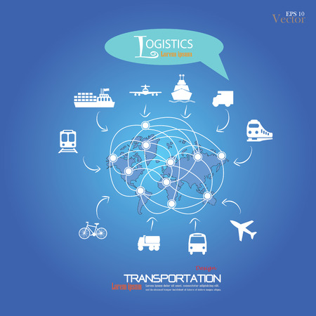 Logistics technology concept.