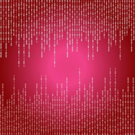 digital: red digital background illustration.