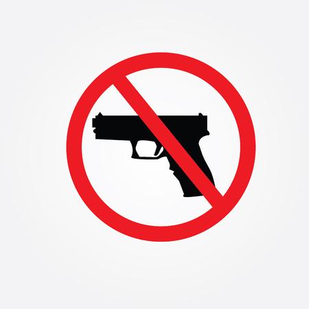 trespass: no hunting sign Illustration
