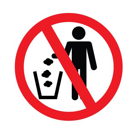 dumping: No littering sign