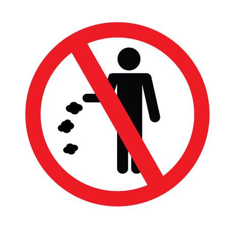littering: No littering sign