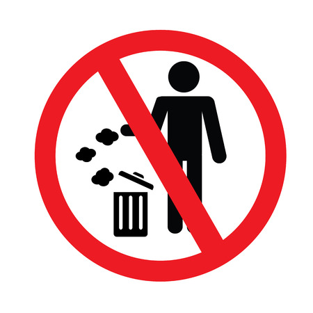 botar basura: No hay se�ales de tirar basura