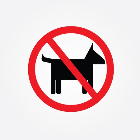 No dogs  sign  Illustration