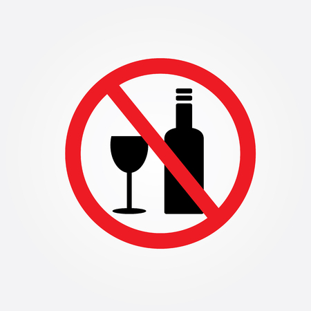 spirituous beverages: No alcohol drinks.no drink.prohibits sign vector