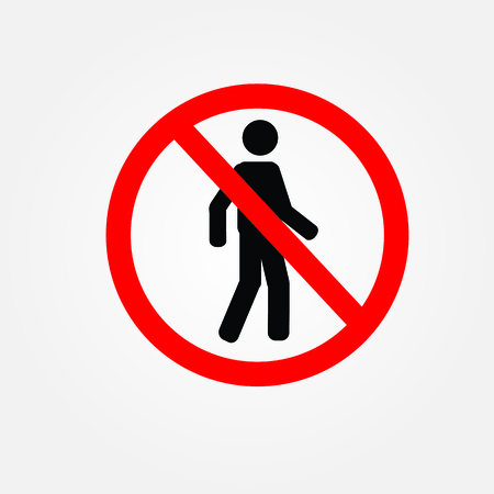 allowed: Not Allowed Sign.prohibit sign vector.vector illustration. Illustration