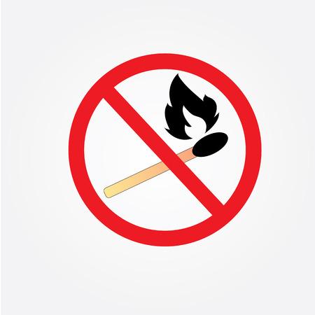 do not: no bonfire sign vector,Fire sign,do not fire area