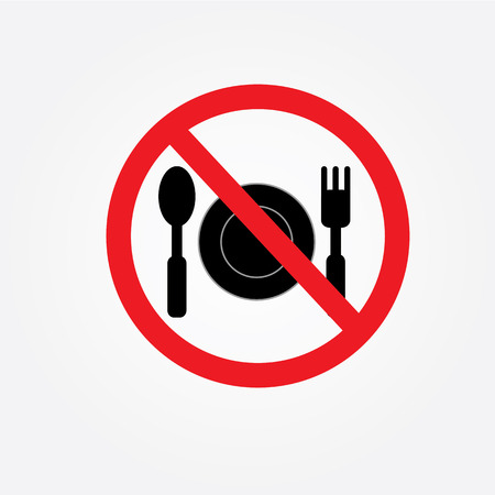 no food: No eating vector sign,no food or drink allowed  vector