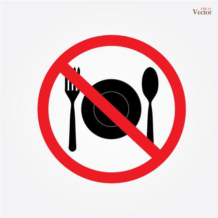 no food: No eating vector sign,no food or drink allowed  vector