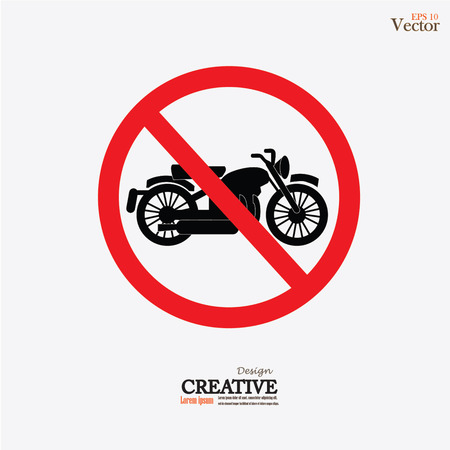 no parking sign: No motorcycle or no parking sign,prohibit sign vector