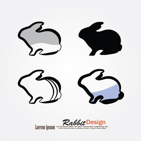 rabbit silhouette: rabbit icon.rabbit.vector illustration Illustration