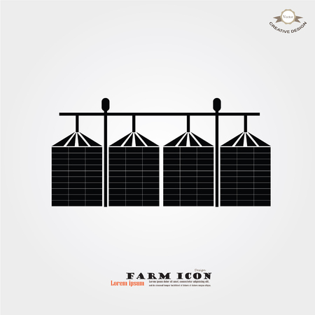 grain silo.silo.vector illustration. Stock Illustratie
