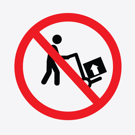 not trolley sign.prohibit sign.vector illustration. Illustration