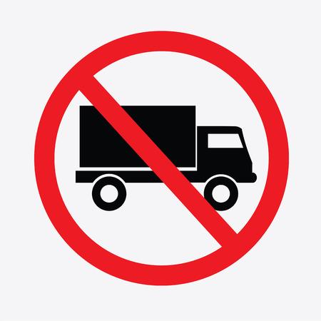 No truck or no parking sign.prohibit sign .vector illustration.