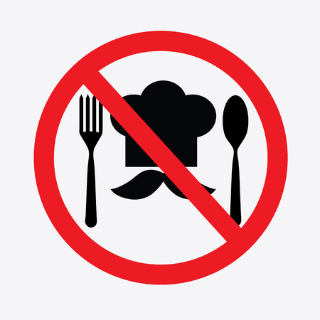No cooking sign.no food or drink allowed .vector illustration. Stock Vector - 49264444
