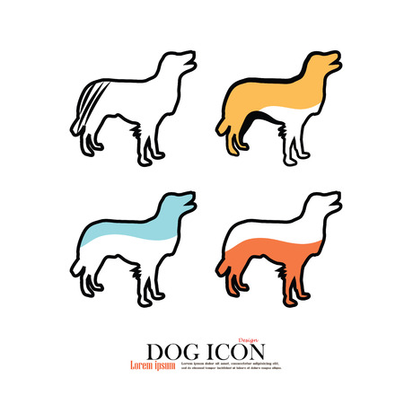 cur: Dogs silhouettes.dog icon.dog.vector illustration Illustration