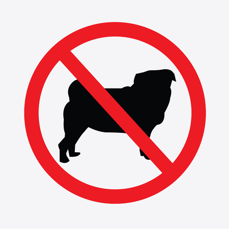 illegal zone: No dogs  sign vector.do not allowed,prohibits sign.vector illustration.
