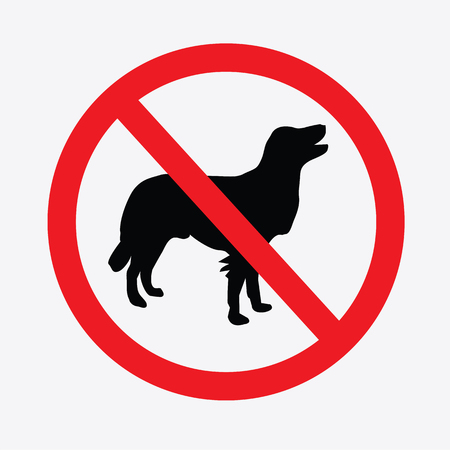 prohibits: No dogs  sign vector.do not allowed,prohibits sign.vector illustration.