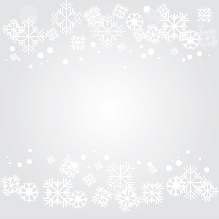 snowflake border: Vector gray background with snowflakes.vector illustration. Illustration