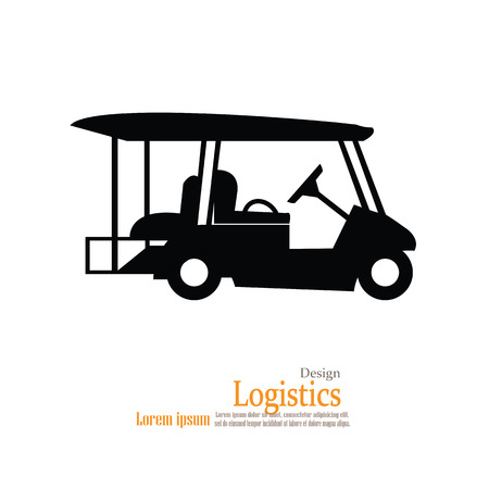 cut the competition: Golf cart .golf car.vector illustration.