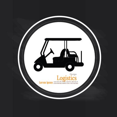 high society: Golf cart on chalkboard .golf car.golf car logo.vector illustration. Illustration