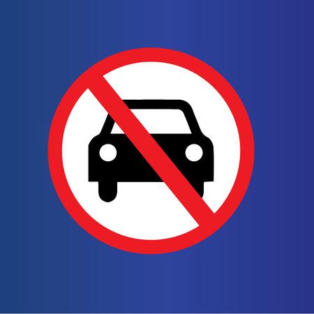 어떤 자동차 또는 칠판에 주차 트래픽 기호, sign.vector 그림을 금지하지