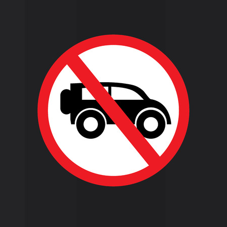 obey: No car or no parking traffic sign on chalkboard,prohibit sign.vector illustration