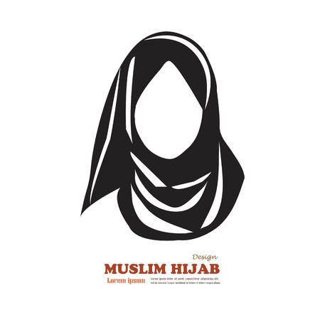 Moslim vrouw pictogram met hijab. Aziatische moslim traditionele hijab.islam vrouw sign.vector illustratie. Stock Illustratie