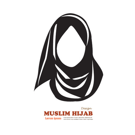 Muslim woman  icon with hijab. Asian muslim traditional  hijab.islam woman sign.vector illustration.