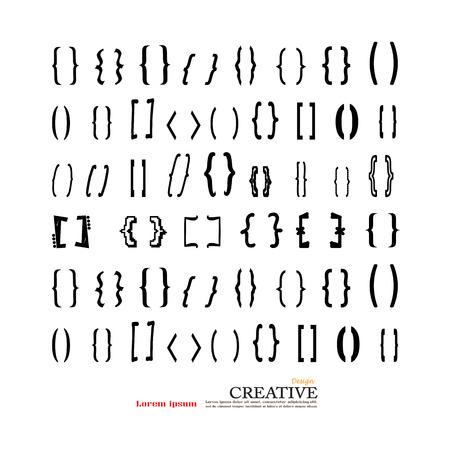 Bracket.brace. accolades pictogram vector. vector illustrator