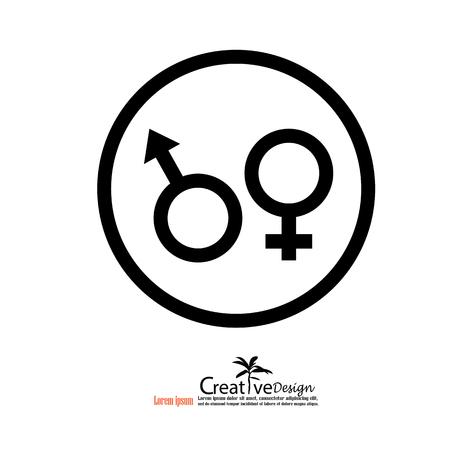 gender: Gender symbol.vector illustration.