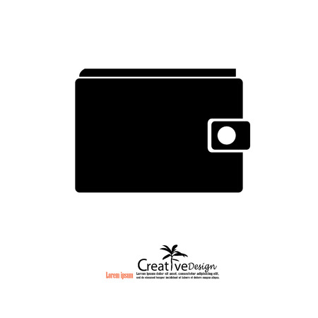 pouch icon.wallet icon.vector illustration. Illustration