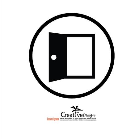 cerrar la puerta: Door.door icon.Vector ilustración. Vectores