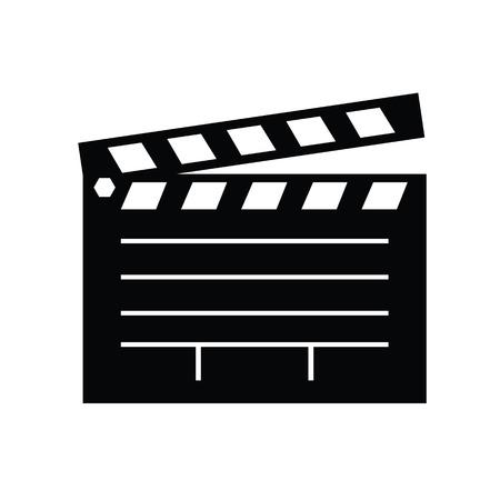 video board. Clapper board icon.film slate icon.vector illustration. Stock Illustratie