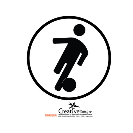 sport silhouette: man play football.man icon.vector illustration. Illustration
