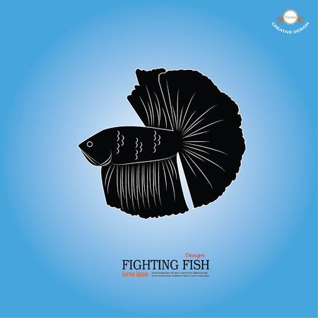 pet breeding: betta fish icon. Betta Fish. Dragon Fish. Fighting fish.vector illustration Illustration