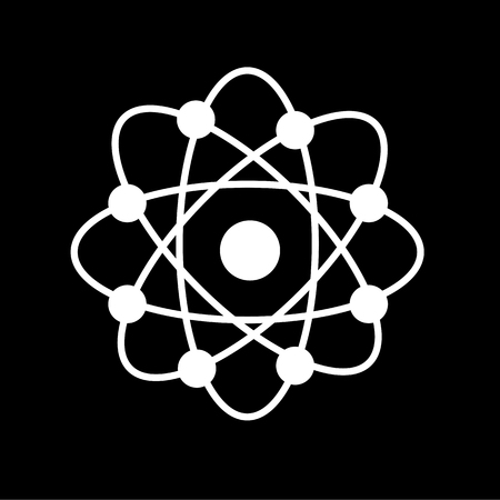 Atom structure vector,symbol of atom,atom ,atom illustration,covalent shell of atom.vector illustration Illustration