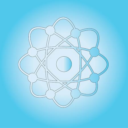 el atomo: Atom estructura vectorial, s�mbolo de �tomo, �tomo, ilustraci�n �tomo, c�scara covalente de ilustraci�n atom.vector