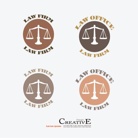 fair trial: Justice scales icon.vector illustration.