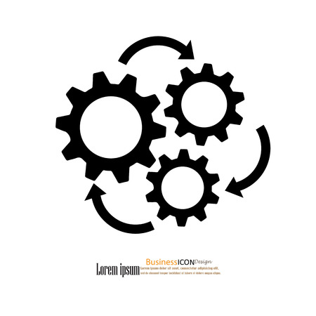 editable sign: gear icon vector.working  concept.vector illustration