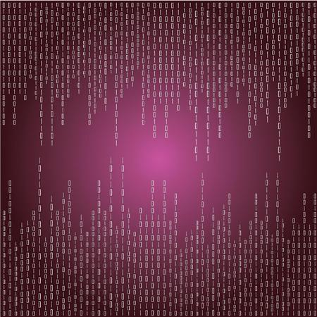 encoded: Matrix background.purple digital background.vector illustration.