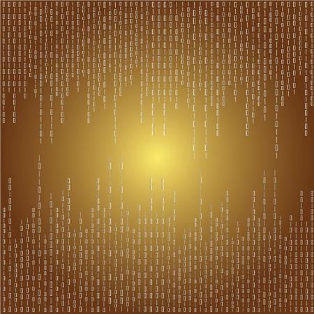 encoded: Matrix background.brown digital background.vector illustration. Illustration