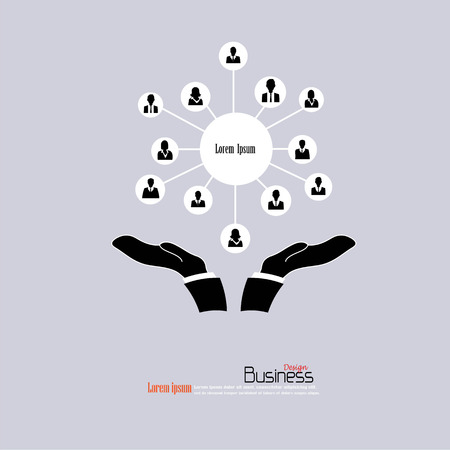 social gathering: Business man network.connecting people.network concept.vector illustration.