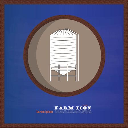 silo: grain silo on chalkboard.silo.vector illustration.