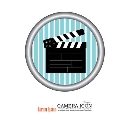 film title: video board. Clapper board icon.film slate icon.vector illustration. Illustration